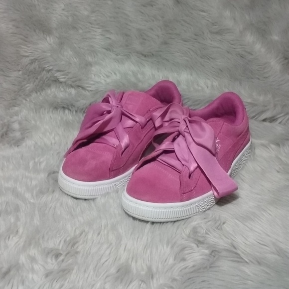 more photos f85a0 eb978 Puma Suede Heart Reset Girl's Pink Sneakers